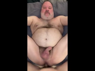 Hot chub daddy loves being fucked